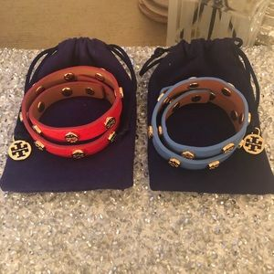 Signature Tory Burch Double Wrap Bracelet